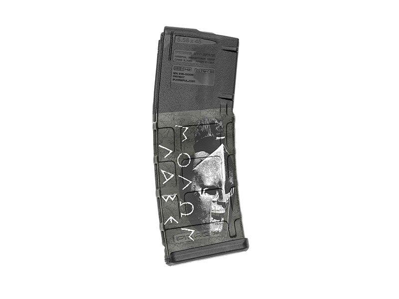 【取寄せ】M4 Mag Skins Single Pack - Molon Labe Black