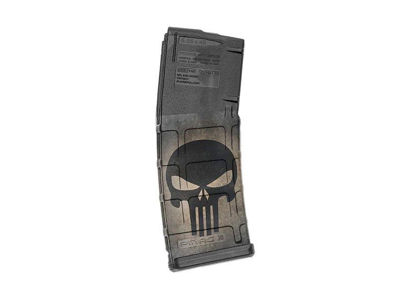 M4 Mag Skins Single Pack - Skull Black