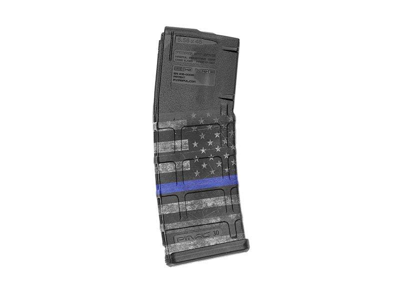 【取寄せ】M4 Mag Skins Single Pack - Thin Blue Line