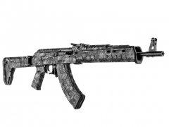 【取寄せ】AK-47 Rifle Skin - Reaper Black