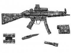 """【取寄せ】Gear Skin 8"""" x 50"""" - Reaper Black"""