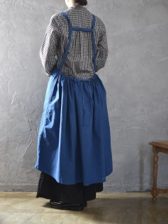 Yarmo(ヤーモ) Bib Apron Dress  [blue]