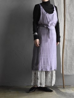 uryya ユライヤ・    Back cross silk one-piece  [purple]
