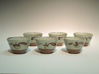 河井寛次郎/草絵茶碗   KAWAI Kanjiro / Kusae Chawan