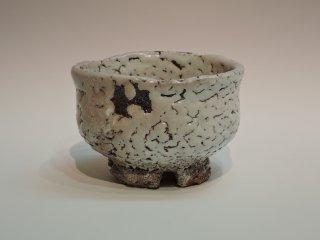十一代三輪休雪(壽雪)/鬼萩割高台茶碗   MIWA Kyusetsu 11th(Jusetsu) / Onihagiwarikodai Chawan