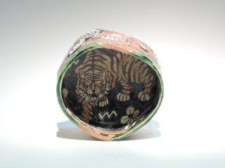 深見文紀/漫画織部茶碗 虎之画0201   FUKAMI Fuminori / Mangaoribe Chawan0201