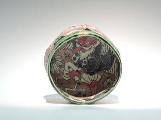 深見文紀/漫画織部茶碗 天狗之画0204   FUKAMI Fuminori / Mangaoribe Chawan0204