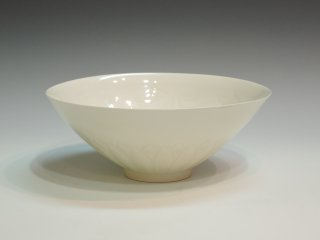 塚本快示/白瓷唐草鉢   TSUKAMOTO Kaiji / Hakuji Karakusabachi