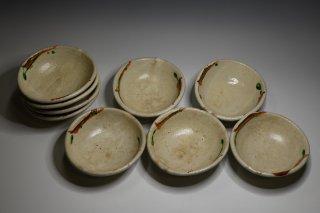 山城建司/宋赤絵小皿9客   YAMASHIRO Tateshi / Souakaekozara 9 plates