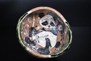 【陶展】深見文紀/鳴海漫画織部茶盌141   FUKAMI Fuminori / Narumimangaoribe chawan 141