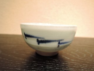 めだか染付盃(ぐい呑)/近藤高弘   KONDO Takahiro / Medakasometsuke sakazuki(guinomi)