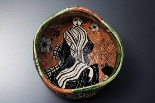 深見文紀/漫画織部茶碗 1130   FUKAMI Fuminori / Mangaoribe chawan 1130