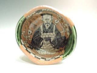 深見文紀/漫画織部茶碗 1149   FUKAMI Fuminori / Mangaoribe chawan 1149