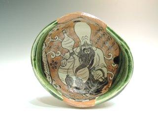 深見文紀/漫画織部茶碗1135   FUKAMI Fuminori / Mangaoribe chawan 1135