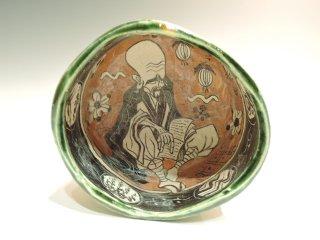 深見文紀/漫画織部茶碗1147   FUKAMI Fuminori / Mangaoribe chawan 1147