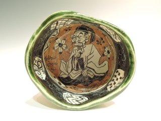 深見文紀/漫画織部茶碗1153   FUKAMI Fuminori / Mangaoribe chawan 1153