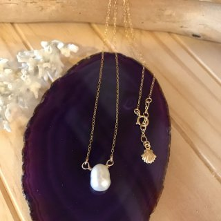 water pearl necklace