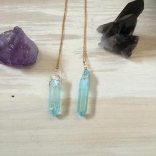 Ocean blue crystal necklace