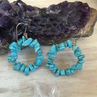 Turquoise RING Pierce(14kgf)