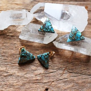 triangle copper turquoise