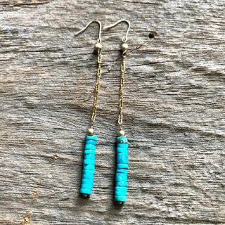 Piled up TURQUOISE Pierce(14kgf)