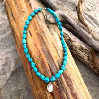 luv the Turquoise &Rainbow moon neck