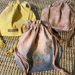 Plant dyeing drawstring bag