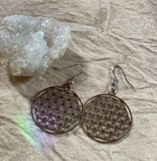 Flower of life silver pierces *