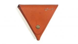 DIFFUSER ディフューザー ITALIAN LEATHER TRIANGLE CASE / Orange
