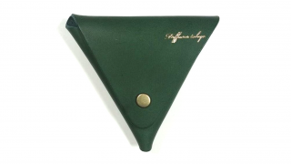 DIFFUSER ディフューザー ITALIAN LEATHER TRIANGLE CASE / Green