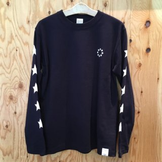 HOSU CIRCLE STAR PRINT LONG SLEEVE T-SHIRT/WHITE,BLACK,NAVY<img class='new_mark_img2' src='//img.shop-pro.jp/img/new/icons7.gif' style='border:none;display:inline;margin:0px;padding:0px;width:auto;' />