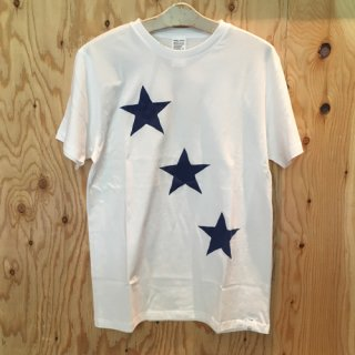 HOSU THREE STAR PRINT T-SHIRT/WHITE,NAVY,BLACK<img class='new_mark_img2' src='//img.shop-pro.jp/img/new/icons7.gif' style='border:none;display:inline;margin:0px;padding:0px;width:auto;' />