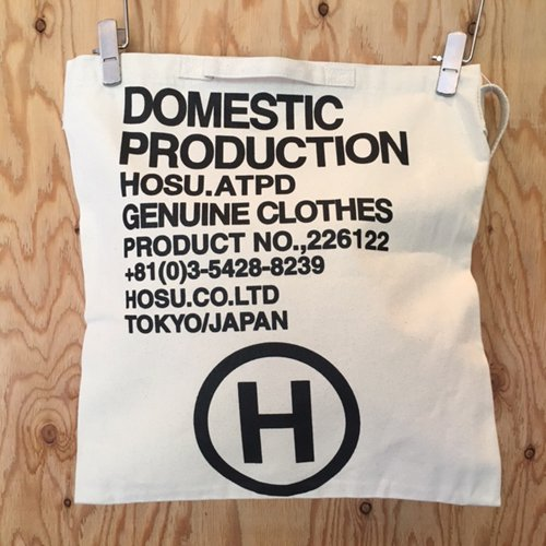HOSU LOGO 2WAY TOTE BAG / IVORY,BLACK