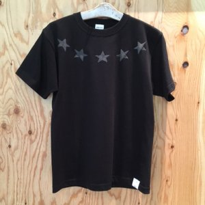 HOSU ROUND STAR PRINT T-SHIRT LIMITED MODEL / WHITE,BLACK