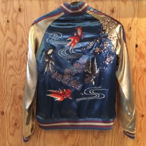 REVERSIBLE SKA JACKET (POP-EYED GOLDFISH)/BLUE
