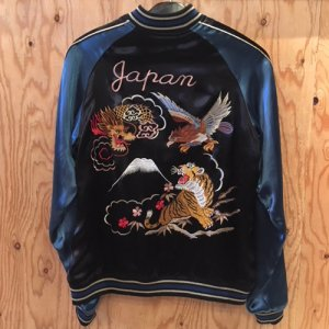 REVERSIBLE SKA JACKET (DRAGON&TIGER)/BLUE