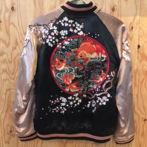 REVERSIBLE SKA JACKET (GOLDFISH)/PINK