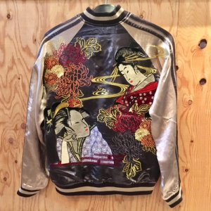 REVERSIBLE SKA JACKET (GEISHA)/GREEN