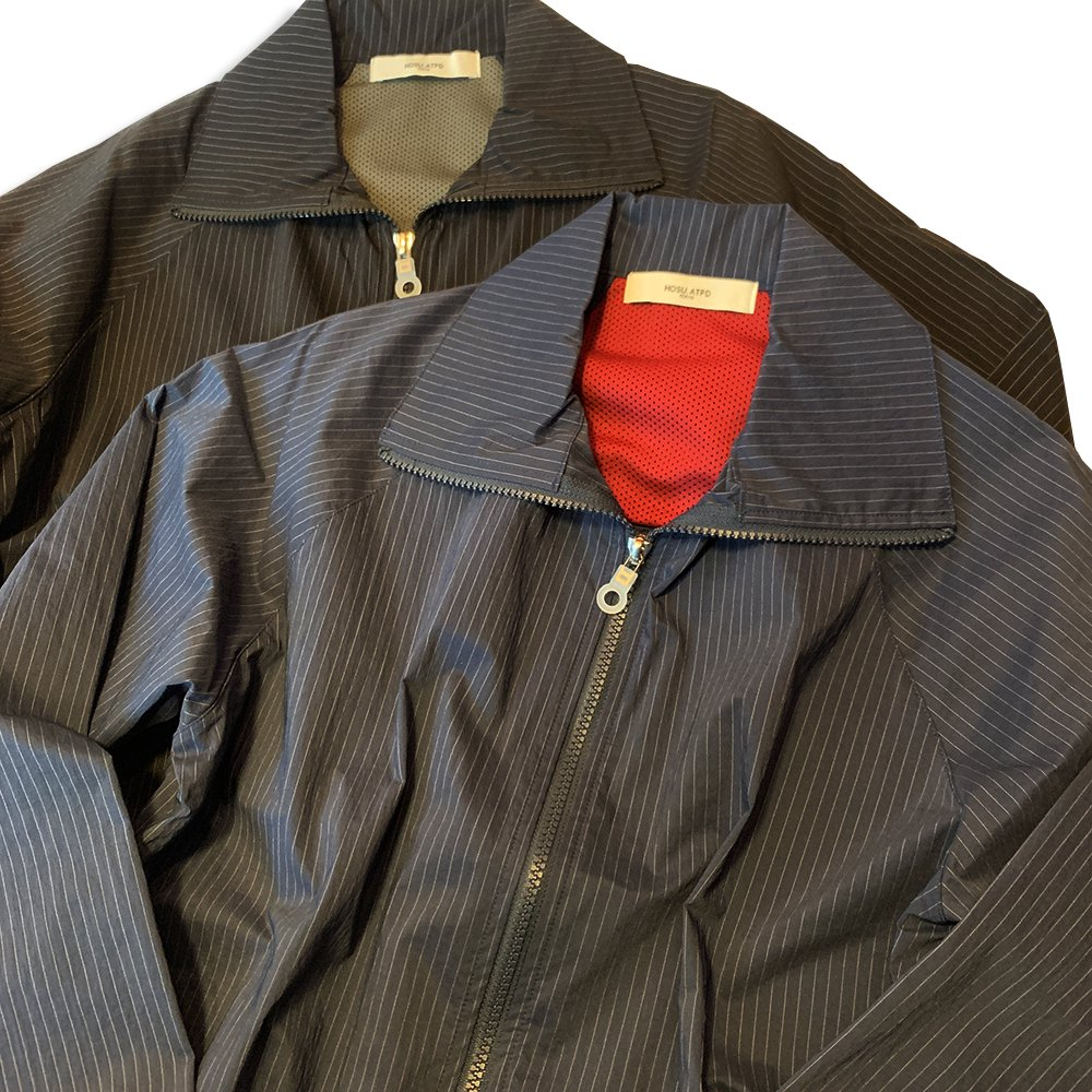 <img class='new_mark_img1' src='//img.shop-pro.jp/img/new/icons55.gif' style='border:none;display:inline;margin:0px;padding:0px;width:auto;' />Lefty-h STRETCH NYLON BLOUSON(STRIPE)/NAVY