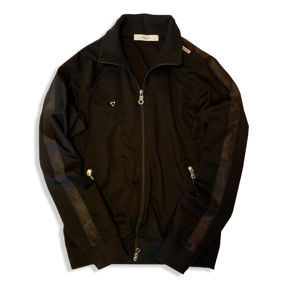 HOSU ストレッチトラックジャケット/ブラック、グレー