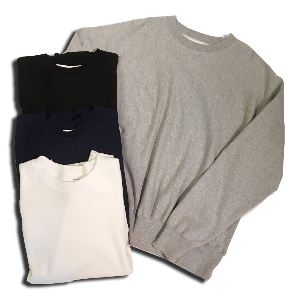 OLDLINER USA COTTON BIG SWEATSHIRT/WHITE,BLACK,GREY,NAVY