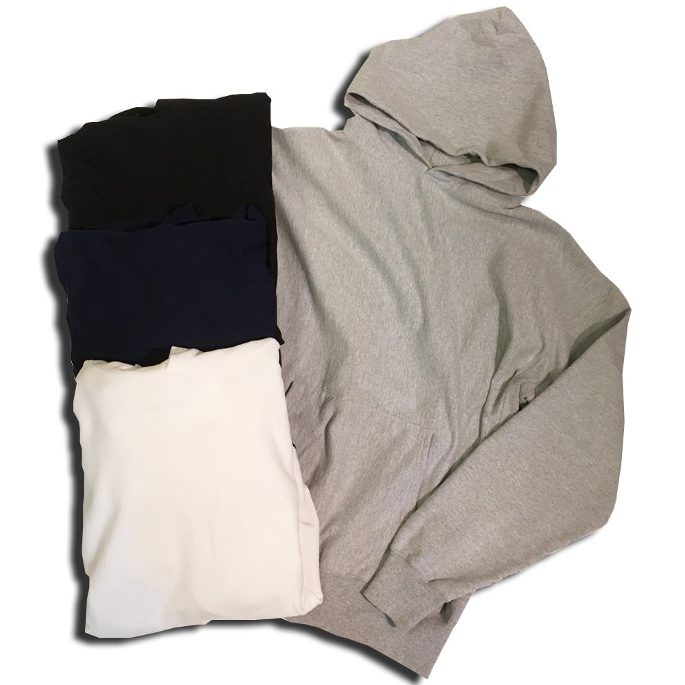 OLDLINER USA COTTON BIG HOODIE/WHITE,BLACK,GREY,NAVY