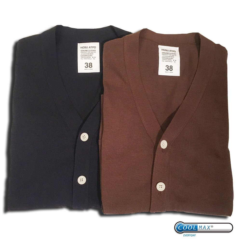 Lefty-h COOLMAX KNIT CARDIGAN/NAVY,BROWN