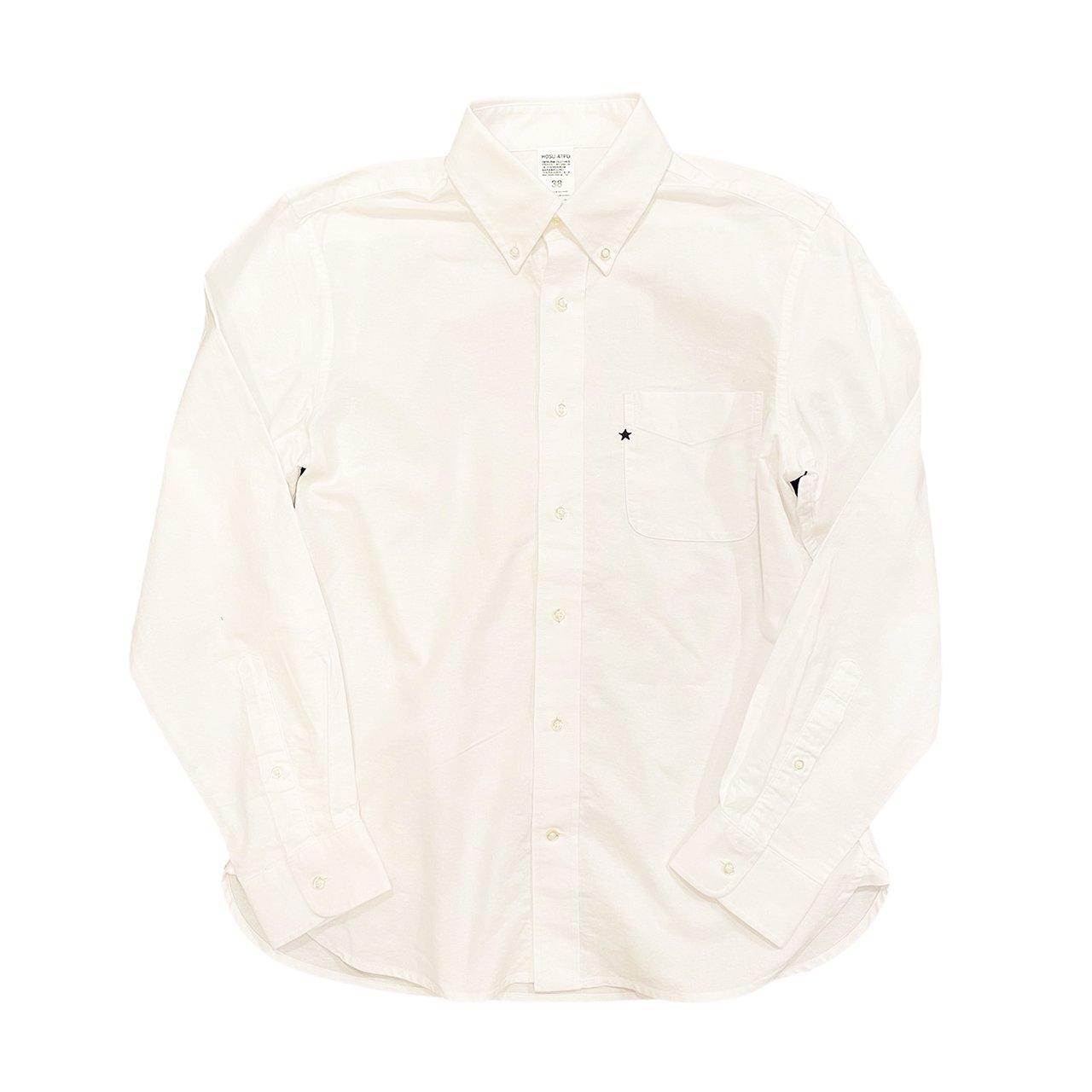HOSU オックスフォードシャツ(星刺繍)/ホワイト、グレー