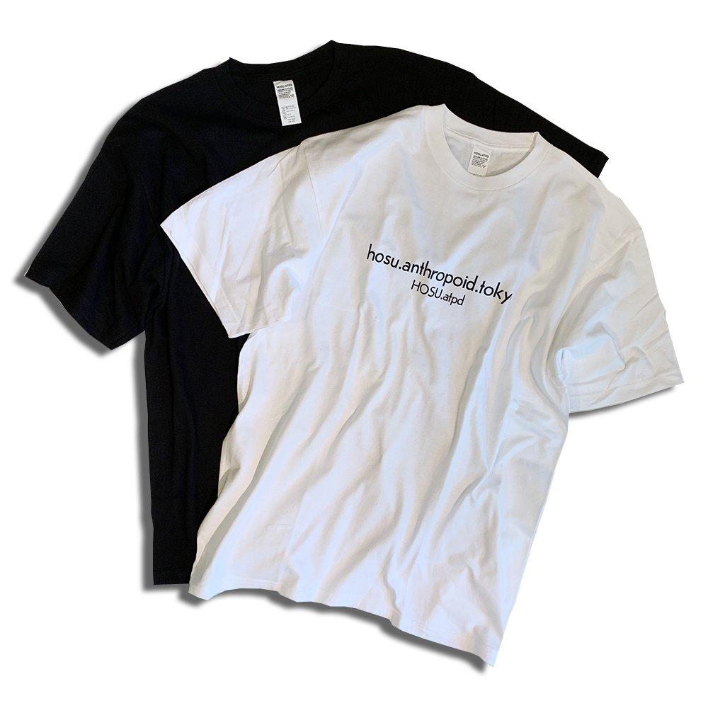 HOSU ロゴビッグTシャツ/ホワイト、ブラック