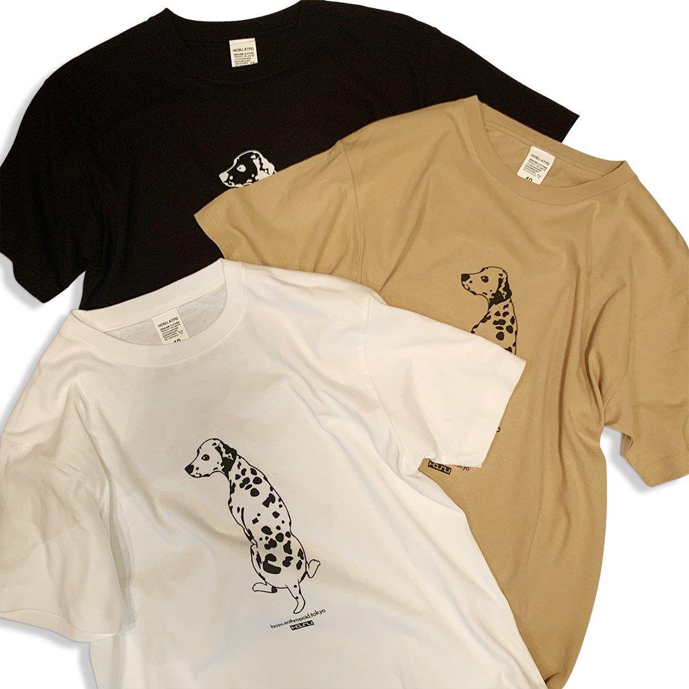 HOSU ダルメシアンプリントTシャツ/ホワイト、ブラック、ベージュ