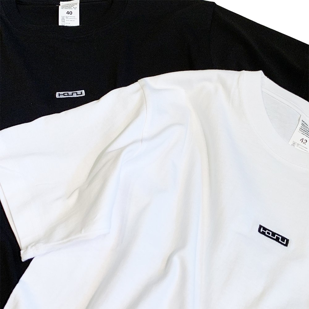 Box Logo Embroidery T-Shirt/White,Black