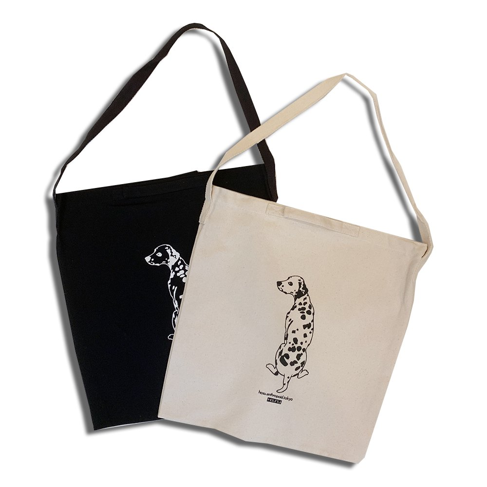 2WAY TOTE BAG DALMATIAN/IVORY,BLACK
