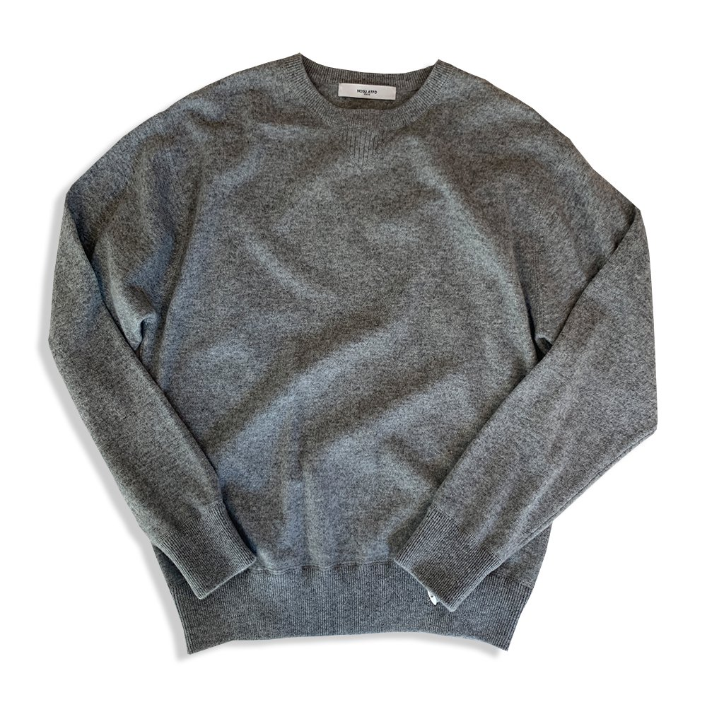 Crew Neck Cashmere Knit/Black,Grey,Blue