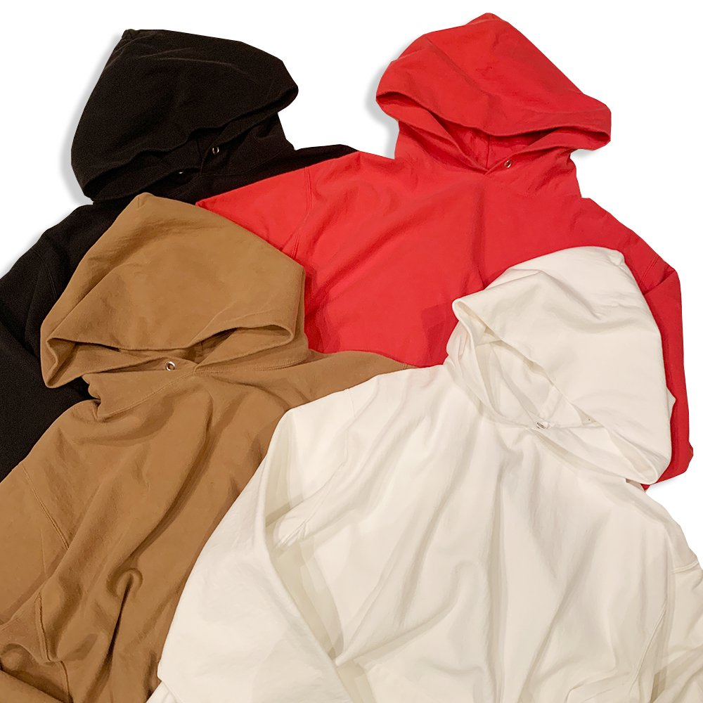 OLDLINER×HOSU Usa Cotton Vintage Hoodie/White,Black,Red,Camel